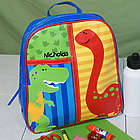 Personalized Embroidered Dinosaur Backpack
