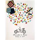 Tandem Bike Thumbrint Signature Poster