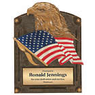Personalized Heart and Dedication Eagle and Flag Award Plaque