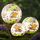 3 Floral Garden Globes