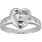Diamond Heart Ring in 10K Gold