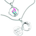 Diamond Hush-A-Bye Children's Locket Pendant in Silver