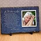 Mother's Love Photo Memorial Plaque