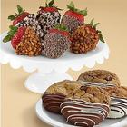Chocolate Dipped Cookies & Strawberries