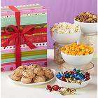 Happy Birthday Stripe Sampler Sweets and Snacks Gift Box