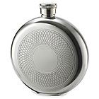 Personalized 5 Oz Mirror Finish Round Flask