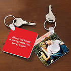 Picture Perfect Couple Personalized Photo Key Ring