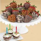 Birthday Brownie Pops & a Dozen Strawberries