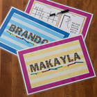 Personalized Kids Reusable Activity Placemat