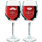 Mr. and Mrs. Personalized Wine Glasses