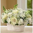 Peace and Healing White Sympathy Bouquet