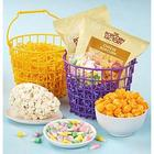Bunny Twin Totes with Gourmet Popcorn and Mouthwatering Treats