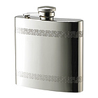 Personalized 6 Oz Pattern Mirror Brushed Finish Flask