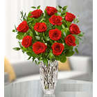 Marquis by Waterford Vase with Premium Red Roses
