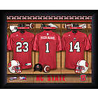 Personalized North Carolina State Locker Room Print