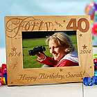 Happy 40th Birthday Picture Frame