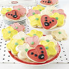 12 Ladybug & Flower Cutout Cookies Gift Box