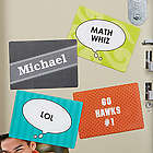 Talk Bubble Personalized Locker Magnet Set