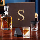 Personalized Argos Liquor Decanter with Whiskey Wedge Glasses