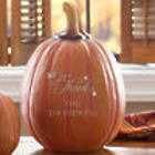 Personalized Give Thanks Pumpkin Decoration