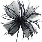 Chrysanthemum Style Flower Fascinator Feather Hair Clip