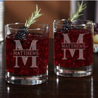 2 Personalized Oakmont Cocktail Glasses