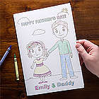 Personalized Father's Day Daddy and Me Coloring Card