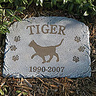Personalized Pet Cat Breed Memorial Stone