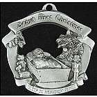 Baby's First Christmas Pewter Ornament