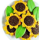 Sunflower and Leaf Cookies Gift Box