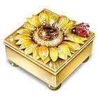 Granddaughter's Personalized Mini Treasures Flower Music Box