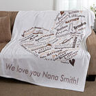 Her Heart of Love Personalized Fleece Blanket