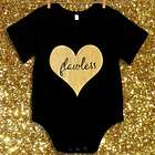Flawless Gold Glitter Heart Infant Bodysuit