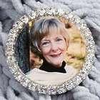 Silver Rhinestone Personalized Photo Pin