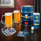 Personalized Oakmont Mugs and Brew Barrel Beer Making Kit