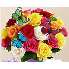 Birthday Butterfly Roses Bouquet