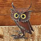 Quirky Metal Owl Sculpture