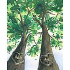 Love Trees Personalized Print