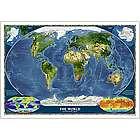 Laminated World Satellite Map