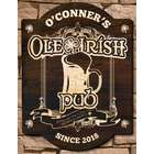 Personalizd Ole Irish Birch Wood Pub Sign