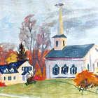 New England Village Framed 8x10 Art Print