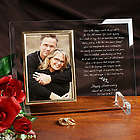 Love is Magic Anniversary Personalized Glass Picture Frame