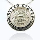 Sterling Silver US Coast Guard Pendant