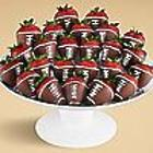 24 Hand-Dipped Chocolate-Covered Football Strawberries