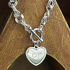 Engraved Infinity and Open Circle Toggle Bracelet
