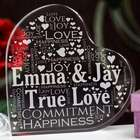 Couple's Love Word-Art Heart Decoration