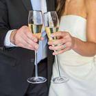 Personalized Silver Rim Champagne Flutes