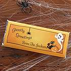 Ghostly Greetings Personalized Halloween Candy Bar Wrappers
