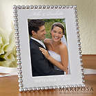 Personalized String of Pearls Wedding Picture Frame
