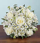Beautiful White Blooms Sympathy Bouquet